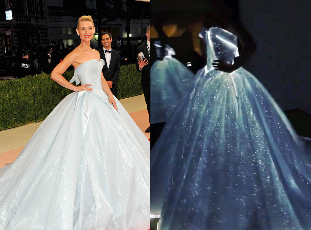 Best dressed at Met Gala 2016 | ManusXMachina, Claire Danes Met Gala 2016 red carpet, Zac Posen glow in the dark dress