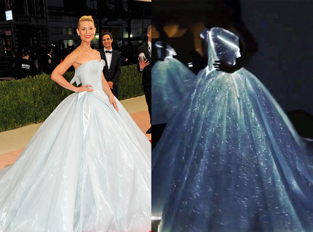 Best dressed at Met Gala 2016 | ManusXMachina, Claire Danes Met Gala 2016 red carpet, Zac Posen glow in the dark dress