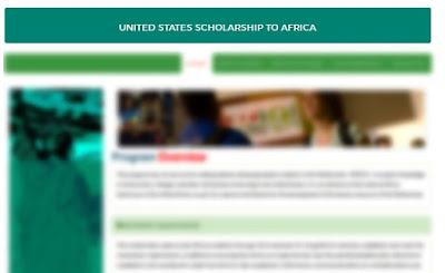 United States Scholarship To Africa