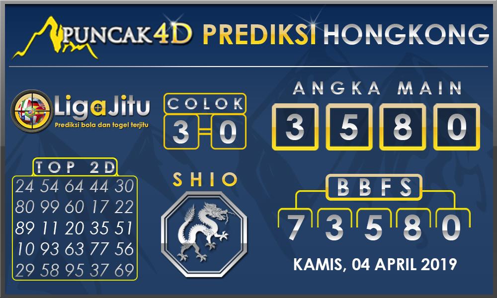 PREDIKSI TOGEL HONGKONG PUNCAK4D 04 APRIL 2019
