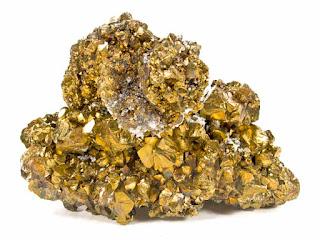 Calcopirita es conocido como la pirita de cobre  y tambien como el Oro de los tontos
