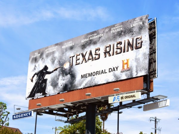Texas Rising TV mini-series billboard