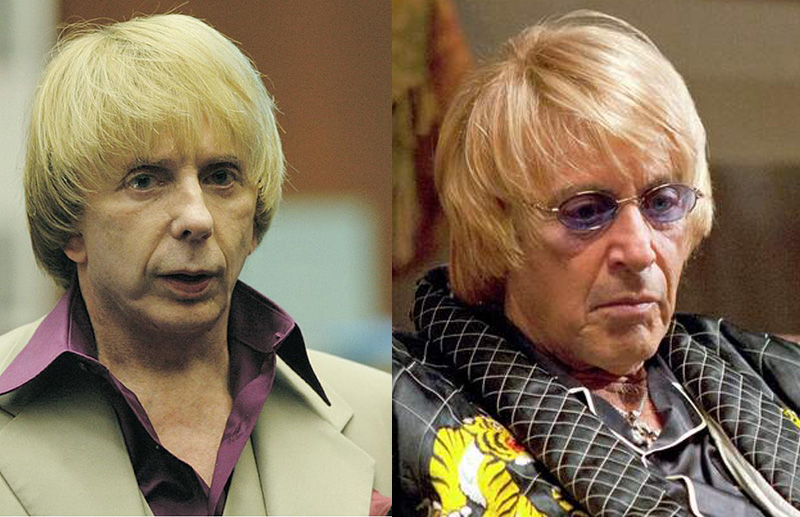 comparing phil spector and al pacino wigs