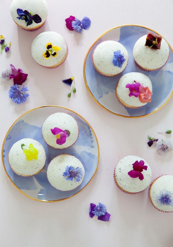 Lemon Lavender Cupcakes - Cooks Network