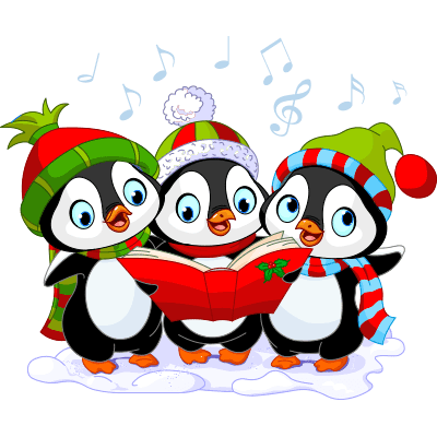 Festive Penguin Carolers
