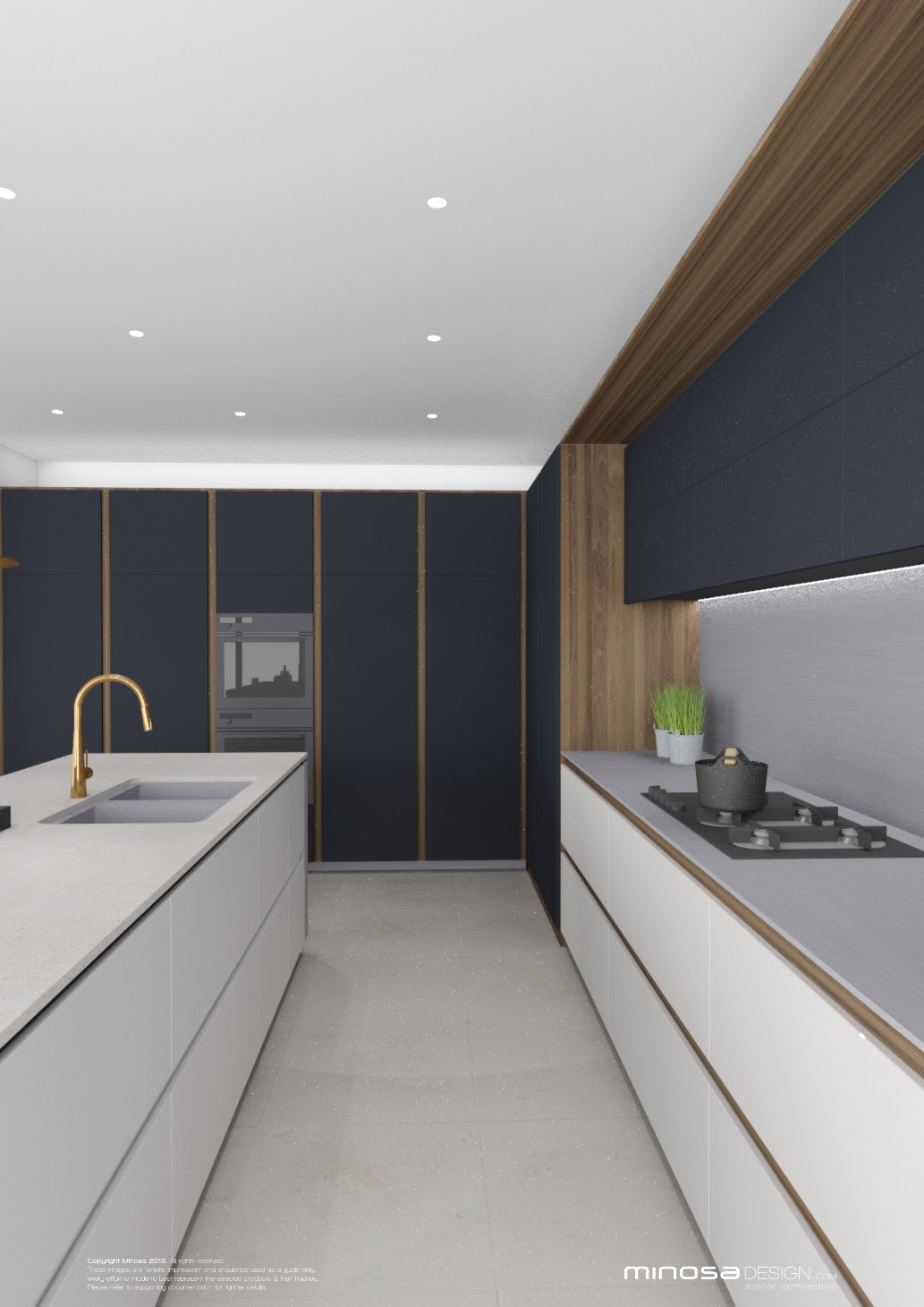 Kitchen Remodeling Design Ideas Inspiration: Minosa: Striking Kitchen Design With Rich Wood & Copper