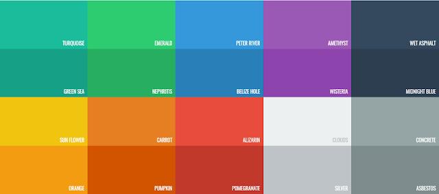 Kumpulan Warna Desain Flat Lengkap