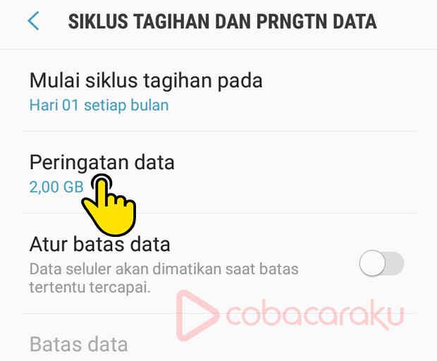 Cara Menghilangkan Peringatan Penggunaan Data Di Samsung Coba Caraku