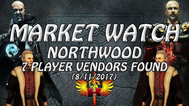 Northwood, NPC Town, 7 Player Vendors Found (8/11/2017) • Shroud Of The Avatar Market Watch