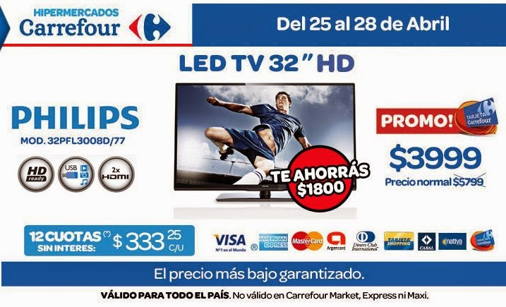 tecno promos argentina promo carrefour led tv philips. Black Bedroom Furniture Sets. Home Design Ideas