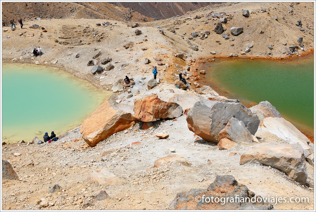 Emerald pools Tongariro Alpine Crossing
