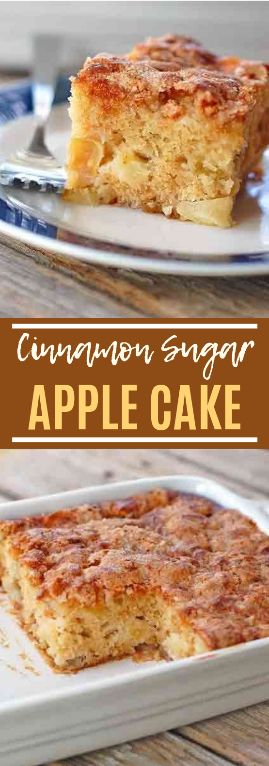 Cinnamon Sugar Apple Cake #bakingrecipe #cake