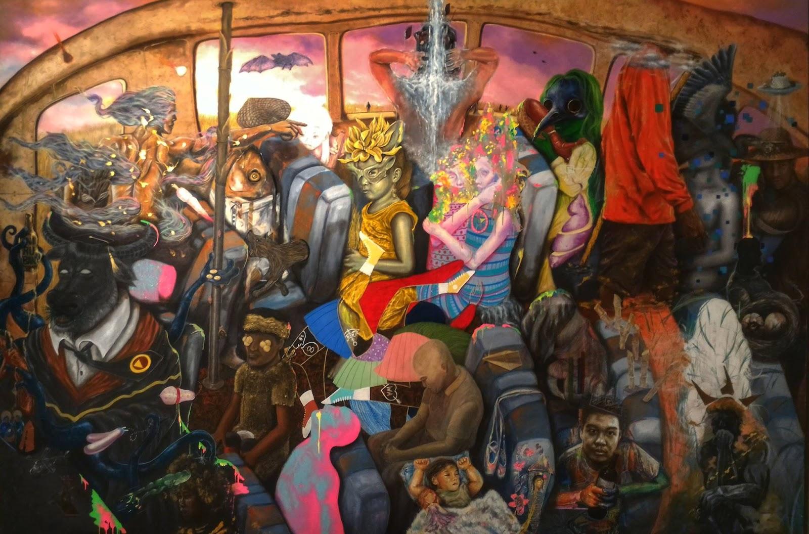 Tarlac artists collaborative painting 243 84 x 365 76 cm museo ng probinsya ng tarlac