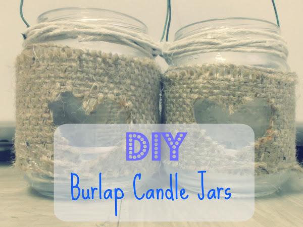 DIY Burlap Candle Jars