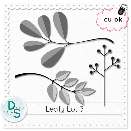 Delicious Scraps: • New Commercial Use Leafy Lot Templates & Free CU Sampler & Spring Mini Re-Upload •