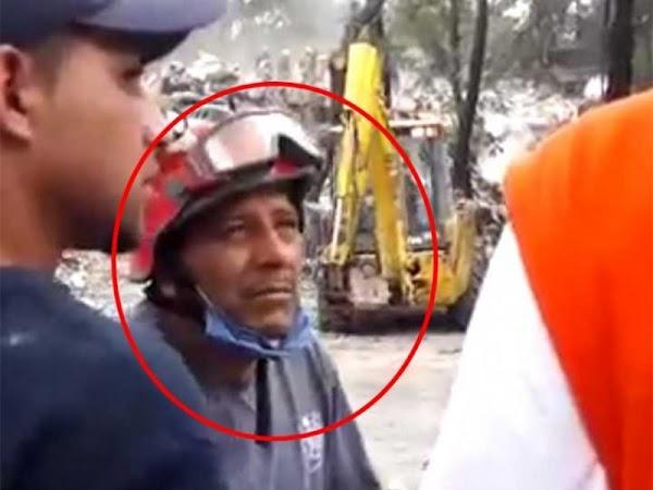 Bombero recupera dinero y joyas de multifamiliar de Tlalpan, busca a sus dueños. (VIDEO)
