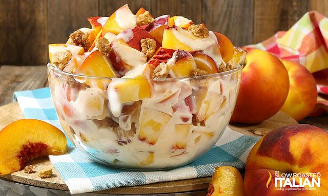 https://www.theslowroasteditalian.com/2017/07/peach-cobbler-cheesecake-salad-recipe.html