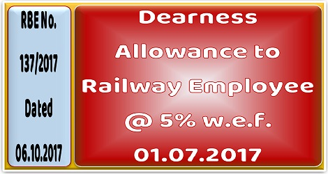 dearness-allowance-wef-1.7.2017-at-5%-to-railway-employee
