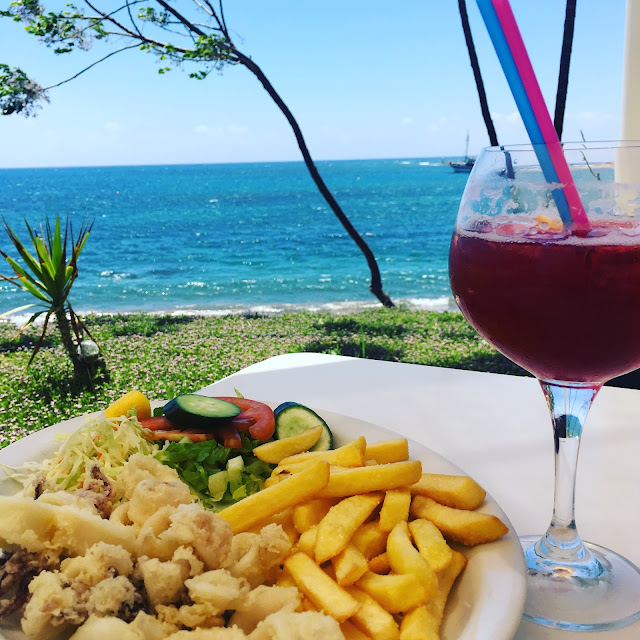 calamari and cocktails at Bonamare Timi Cyprus