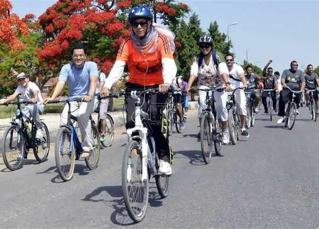 مارثوان دراجات جامعة القاهرة بالصور