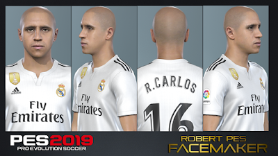 PES 2019 Faces Roberto Carlos by RobertPes Facemaker