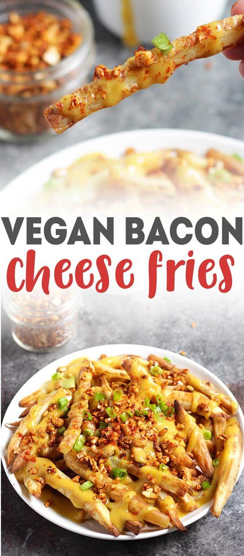 Vegan Bacon Cheese Fries