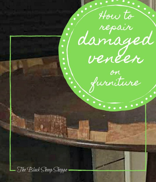 How to repair damaged veneer on furniture.