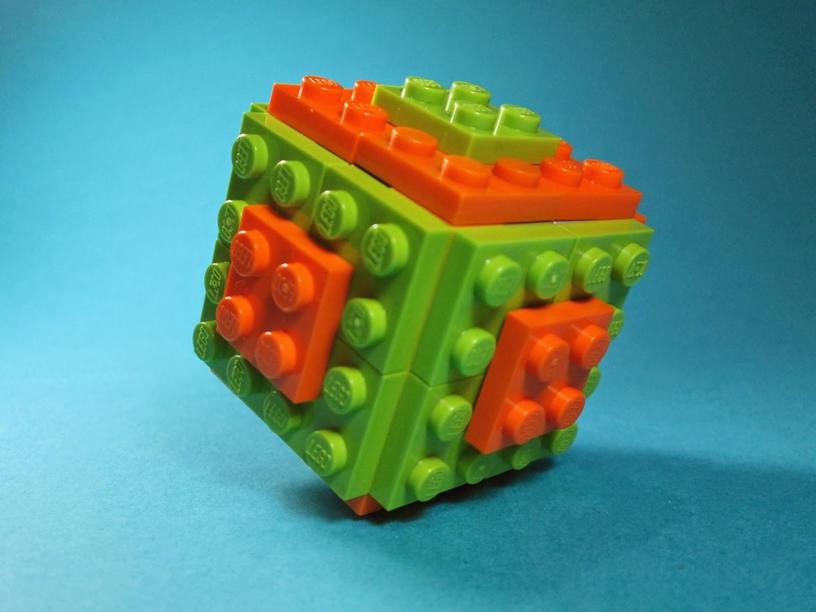 MOC LEGO cubo lima-laranja.