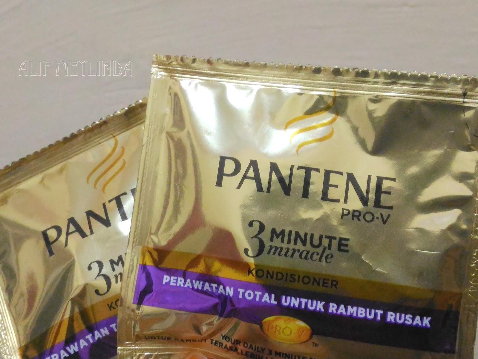 Review Singkat Conditioner Pantene 3 Minute Miracle Untuk Rambut Rusak Alif Meylinda