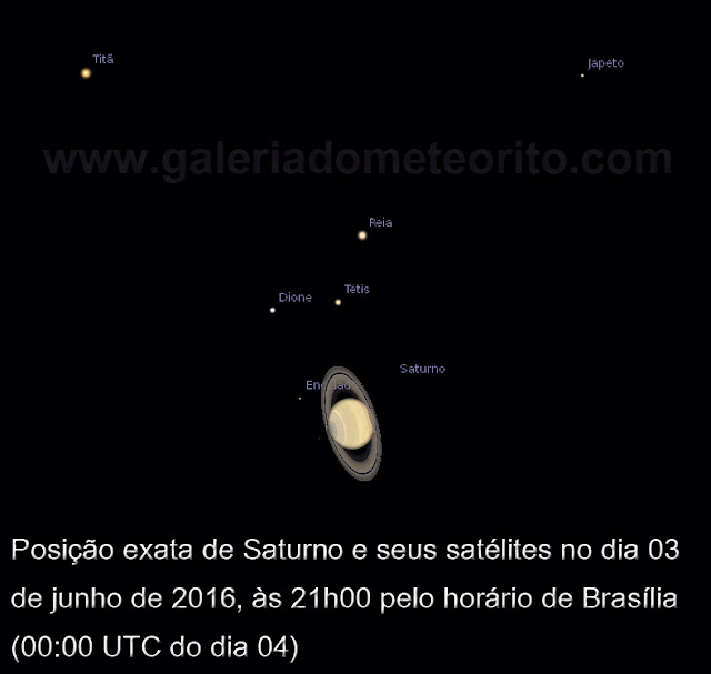 Posição de Saturno no dia 03 de junho as 21h brt