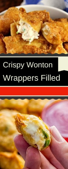 Crispy Wonton Wrappers Filled