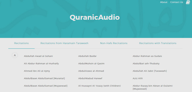 Website QuranicAudio