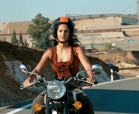Bikers Quotes Wallpapers Katrina Kaif Riding The Royal Enfield