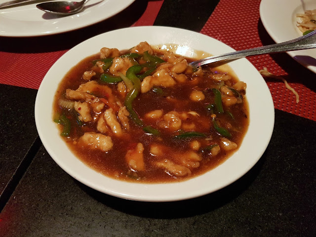 Chicken with Green Peppers at China House, Salmiya, Kuwait