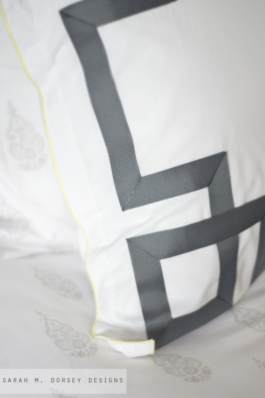 How To Ly Greek Key Trim A Pillow Dorsey Designs