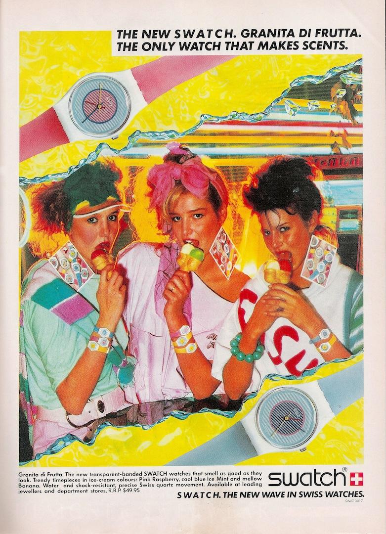 54a0d8d0aae9 Glossy Sheen  Swatch Advertisement 1985