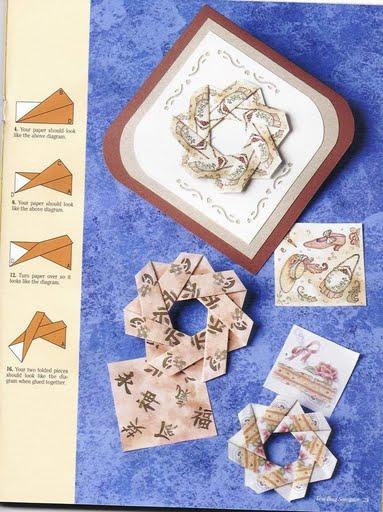 Flores Técnica de doblado de papel para bonitas manualidades