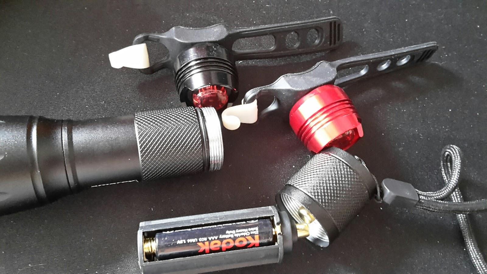 lahr2006 testet: LED Fahrradlampe, amarey® LED Fahrradbeleuchtung ...