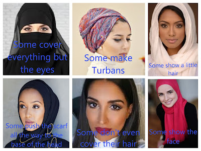 types of hijabs