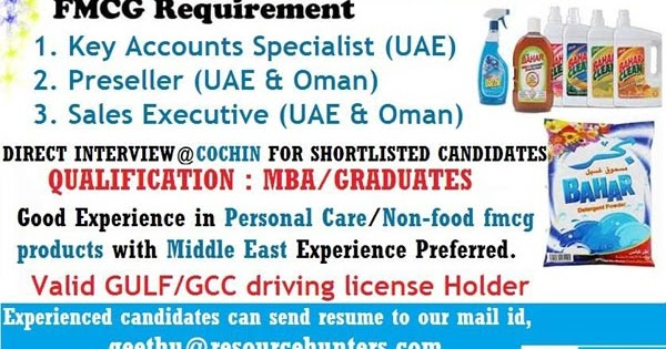 Free Recruitment For Fmcg Jobs In Oman