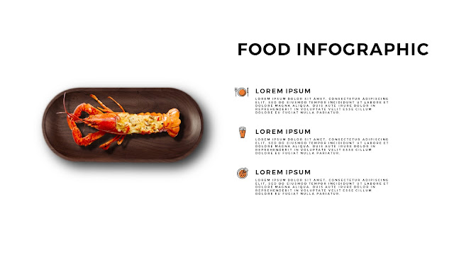 Fried Lobster Food Infographics for Free Powerpoint Template with with Tray