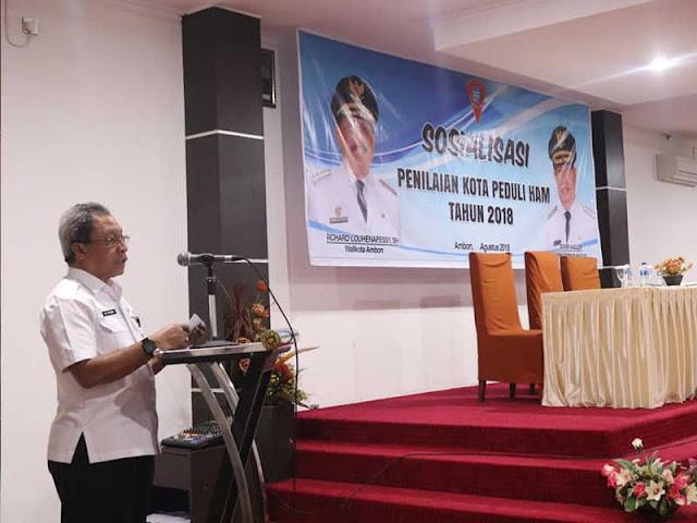 Antonius Latuheru Buka Sosialisasi Penilaian Kota Peduli HAM di Ambon