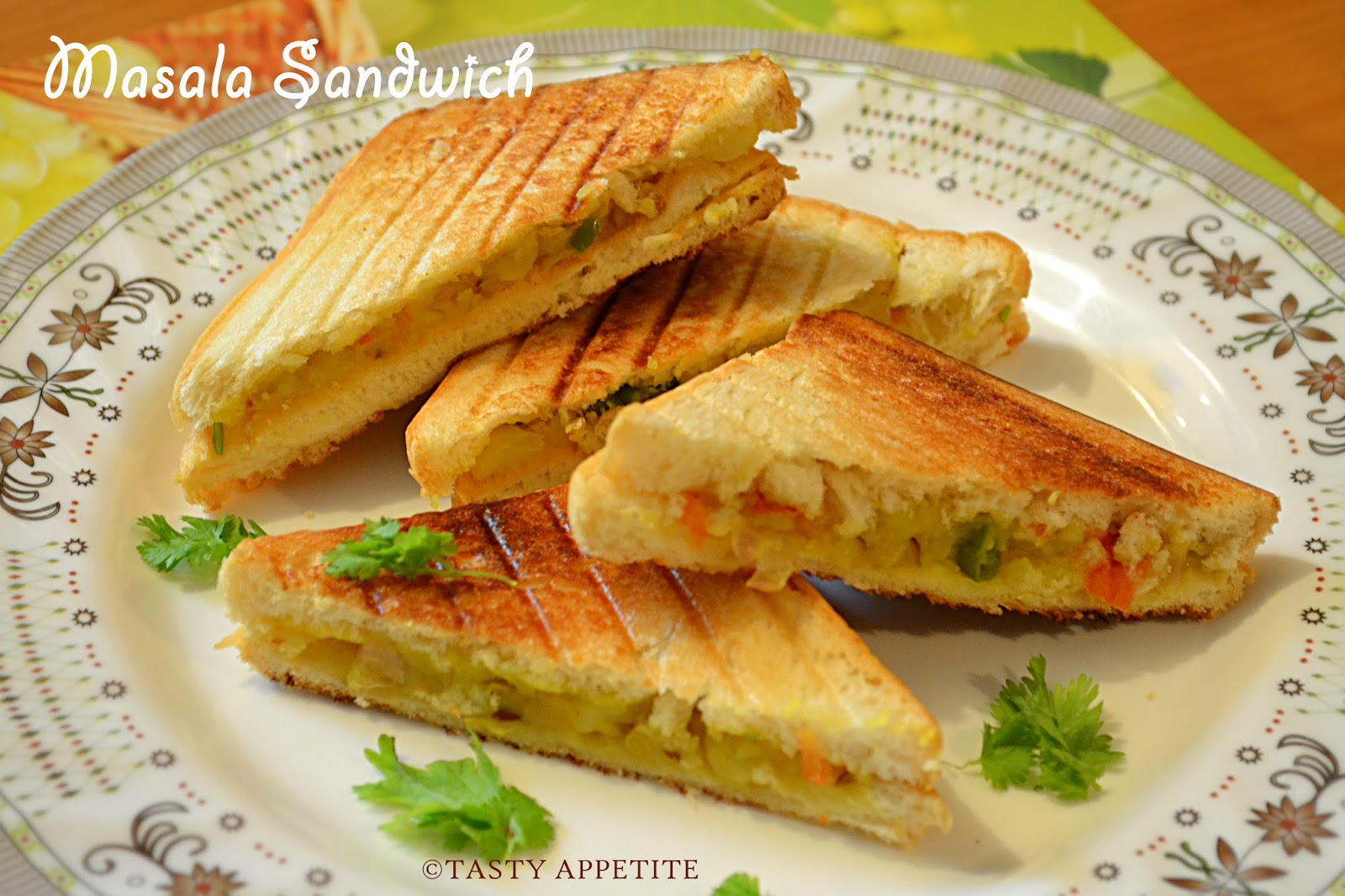 How to make Grilled Masala Sandwich / Indian Style ...