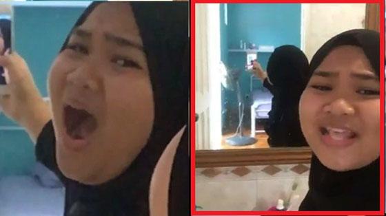 Video Cewek Lipsync Duet Dengan Bayangannya di Kaca Yang Mendadak Viral