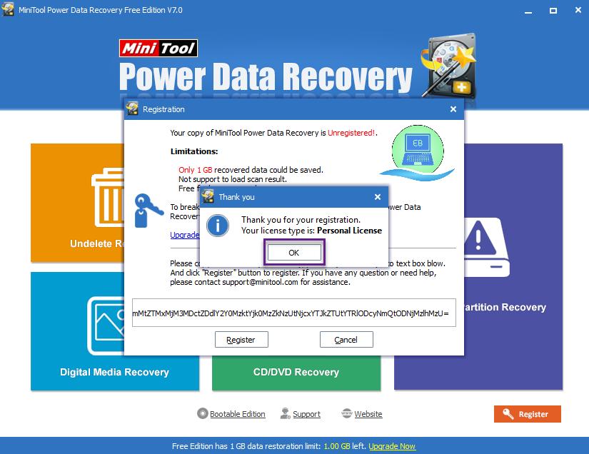 mini power data recovery license key