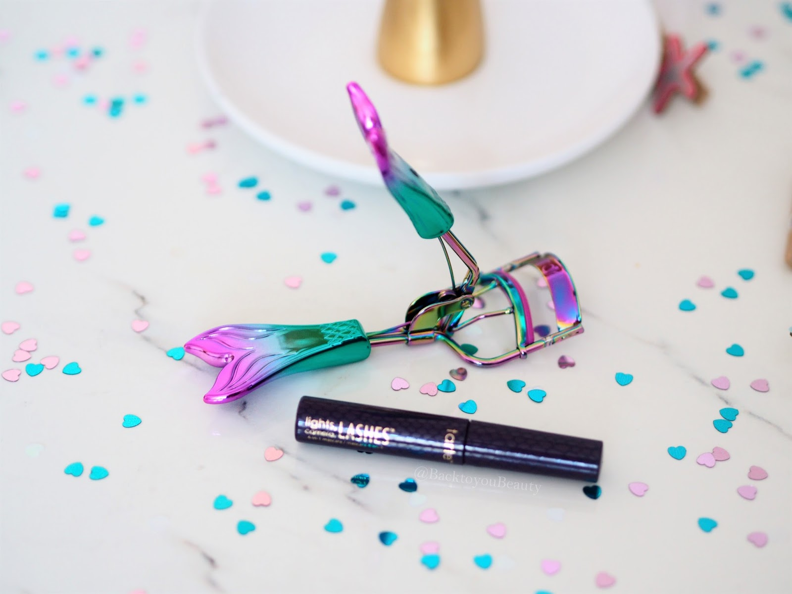 Tarte Mermaid lash curlers and mascara