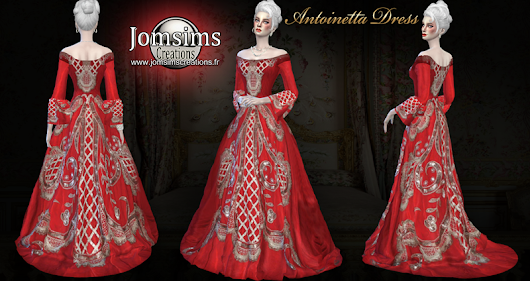 Antoinetta dress click image to download women's clothing zone On. http://www.jomsimscreations.fr WEBSITE