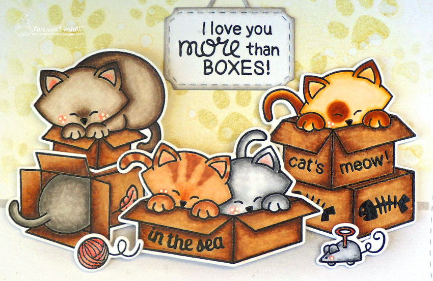 Cats in Boxes Cards by Larissa Heskett | Newton Loves Boxes and Newton's Antics Stamp Sets by Newton's Nook Designs #newtonsnook #handmade