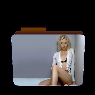 Preview of hot scarlet johannson, blonde, shirt, pose, folder icon.