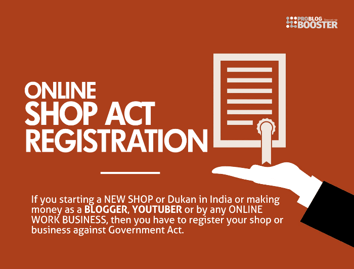 Online Shop Act Registration